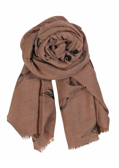 Becksondergaard X Sparrow Wool & Silk Blend Scarf - Dark Powder main image