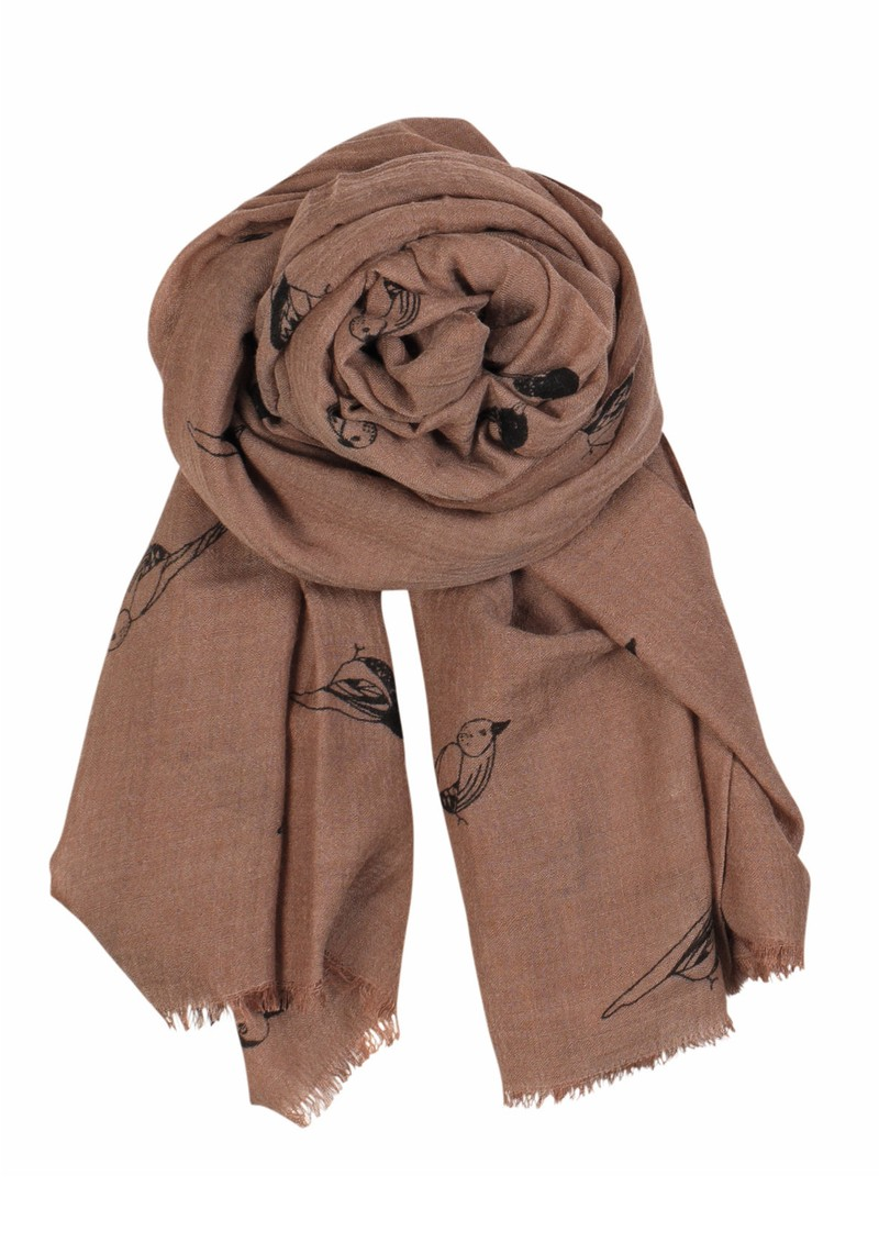 X Sparrow Wool & Silk Blend Scarf - Dark Powder main image