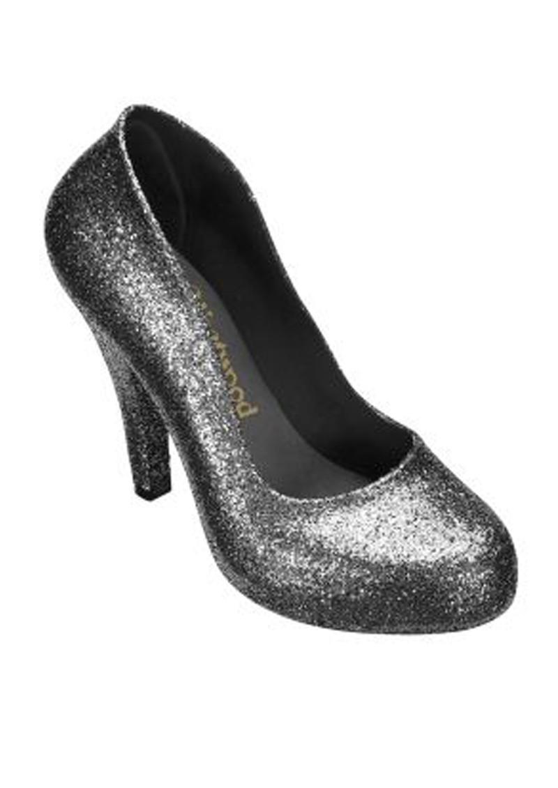 Melissa Vivienne Westwood Sky Scraper Court Heel - Gun Glitter main image