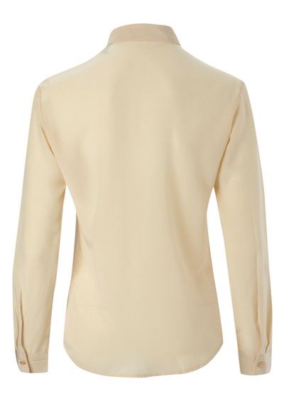 Maison Scotch Clean Look Silk Shirt - Butter main image