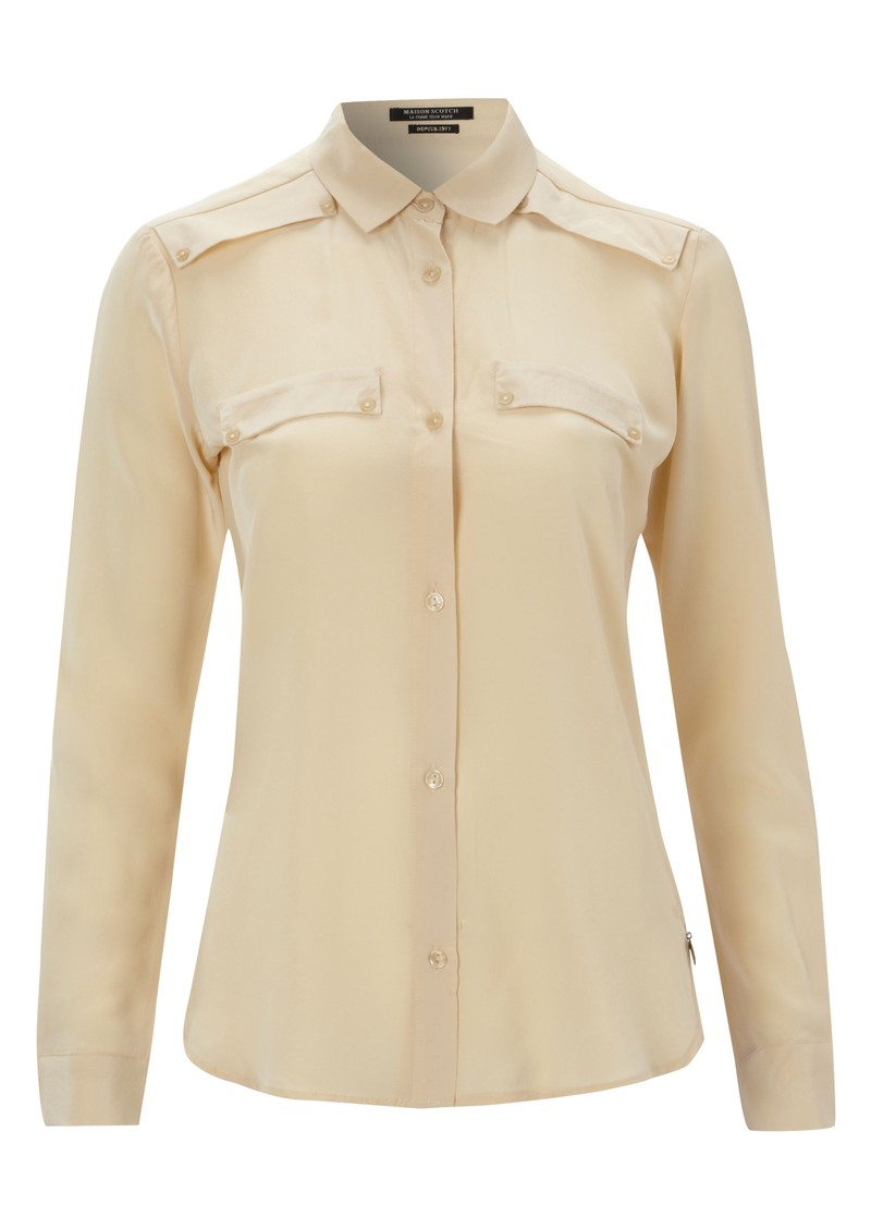 Clean Look Silk Shirt - Butter main image