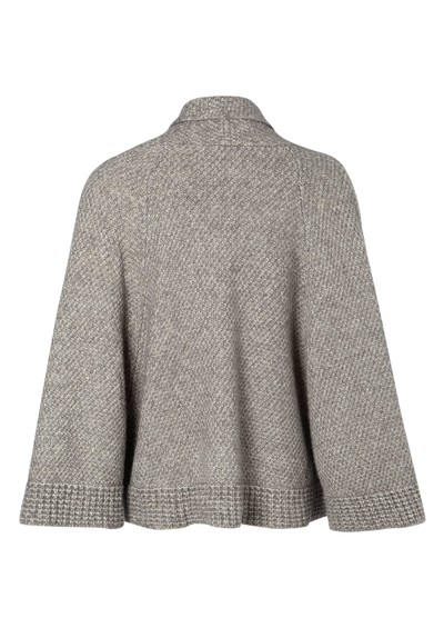 Great Plains Land Wool Mix Cape - Light Grey Melange main image