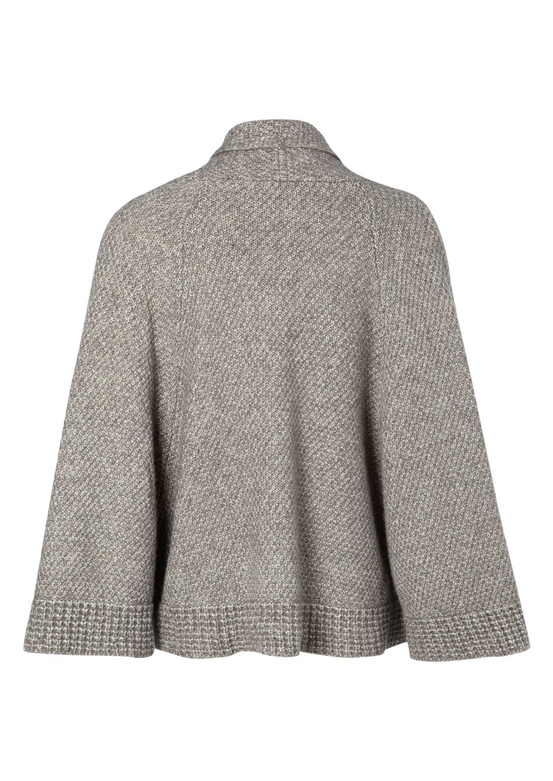 Great Plains Land Wool Mix Cape - Light Grey Melange main image