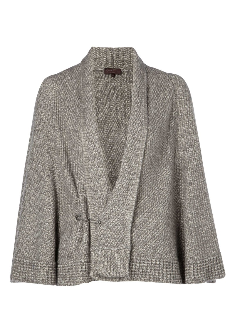 Land Wool Mix Cape - Light Grey Melange main image