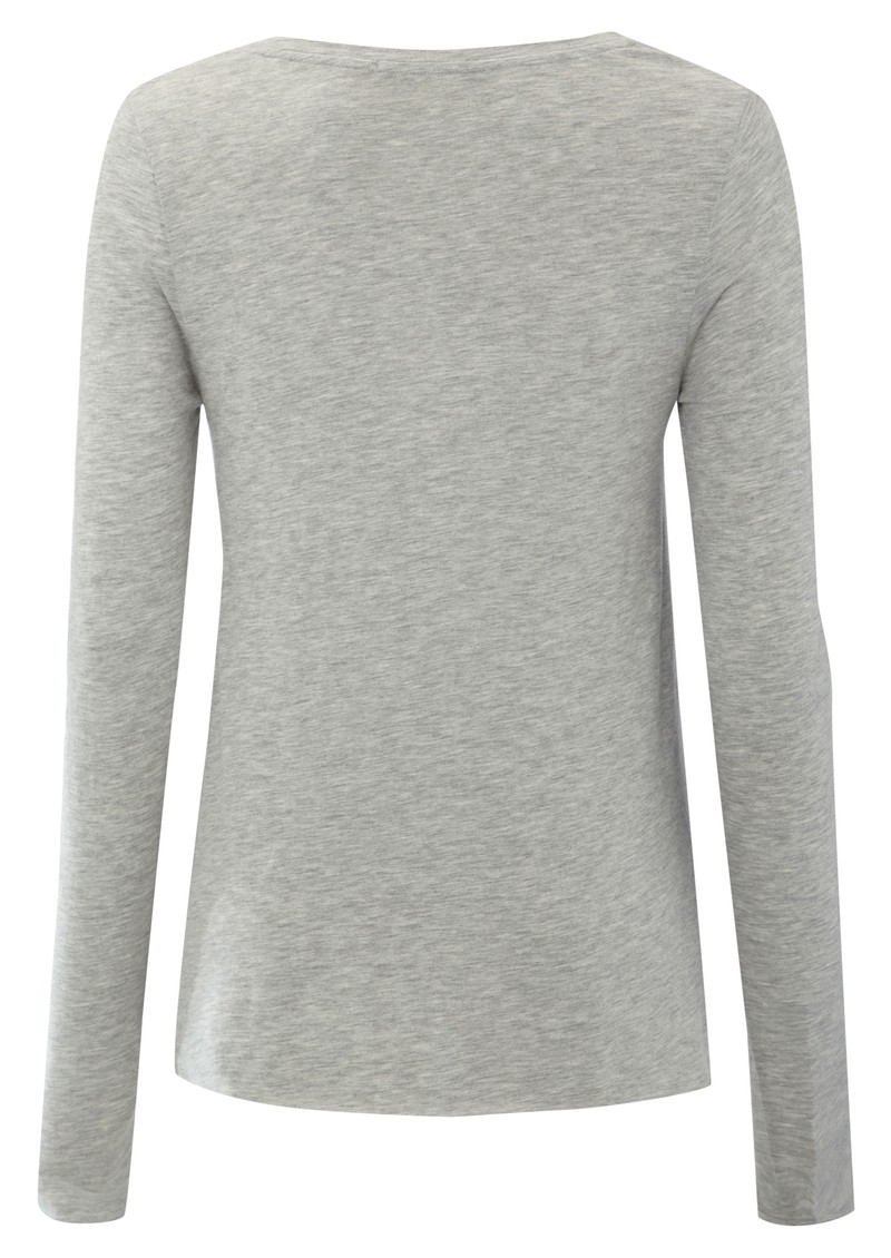 American Vintage Jacksonville Long Sleeve Tee - Heather Grey main image