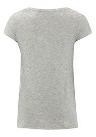 American Vintage Jacksonville Short Sleeve Top - Heather Grey
