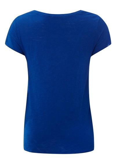 American Vintage Jacksonville Short Sleeve Top - Electric Blue main image
