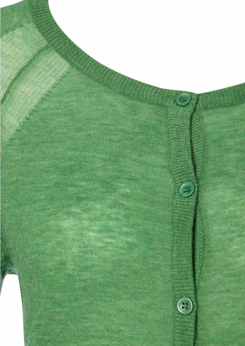 Magnolia Cashmere & Wool Blend Cardigan - Fern main image