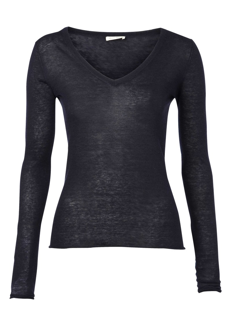 Nevada Knit V Neck Top - Navy main image