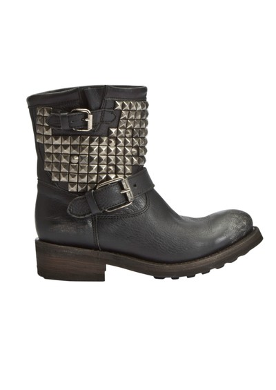 Ash Titan Studded Biker Boot - Black main image