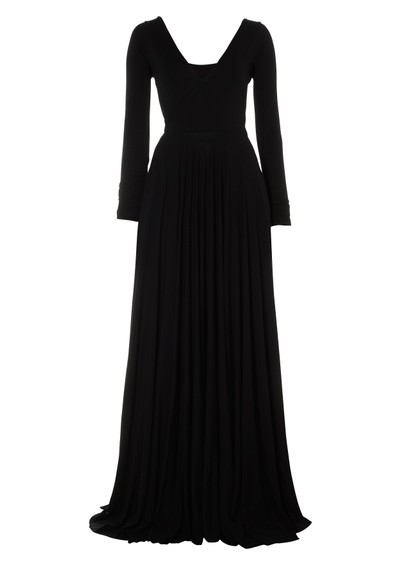 Butter By Nadia Cross Over Long Sleeve Gown - Black main image