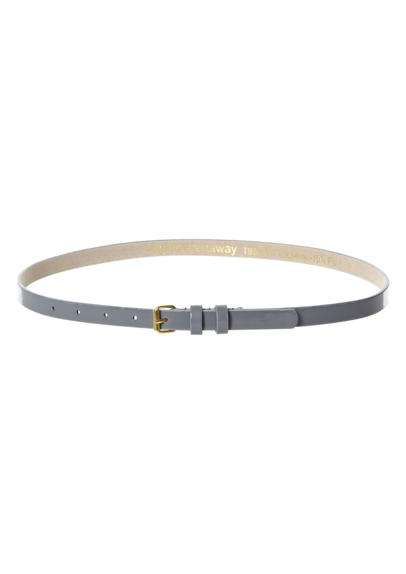 Esteban Leather Belt - Grey main image