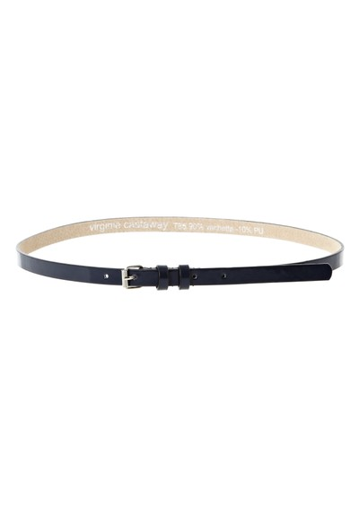 Virginie Castaway Esteban leather belt - Marine main image