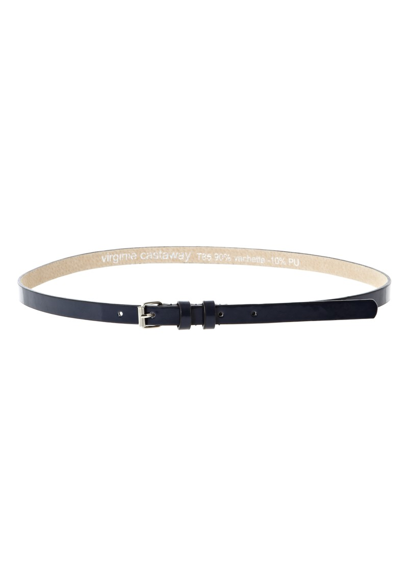 Esteban leather belt - Marine main image