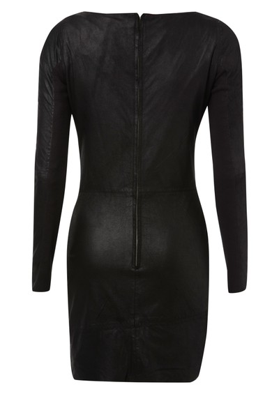 Muubaa Sofia Cowl Neck Leather Dress - Black main image