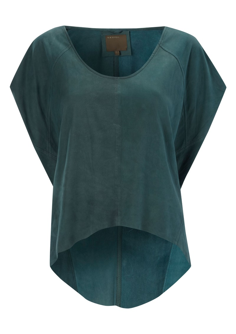 Sintara Drape Leather Top - Teal main image