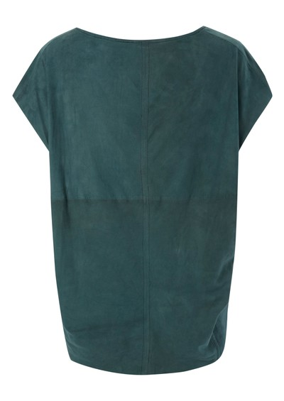Muubaa Sintara Drape Leather Top - Teal main image