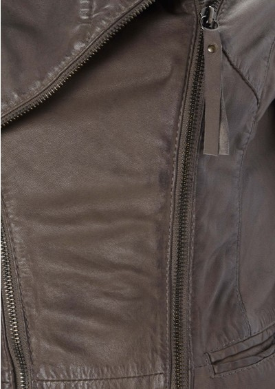 Oakwood Wyona Leather Jacket - Taupe main image