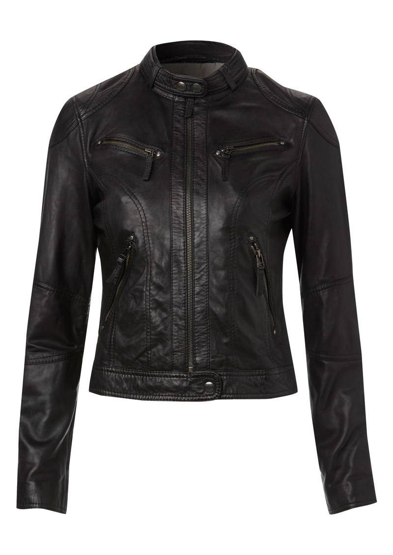 Oakwood Hello New Leather Jacket - Black main image