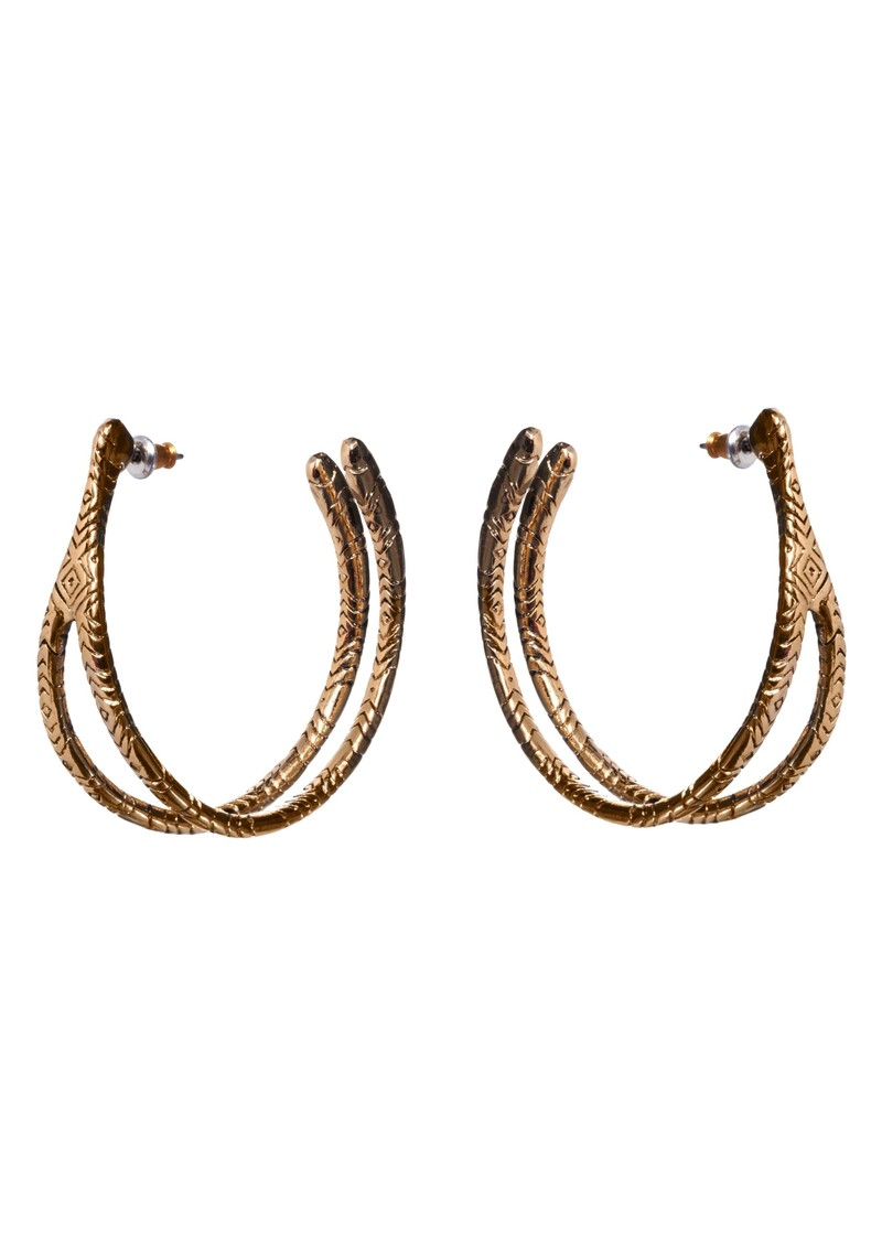 Wishbone Hoop Earrings - Gold main image