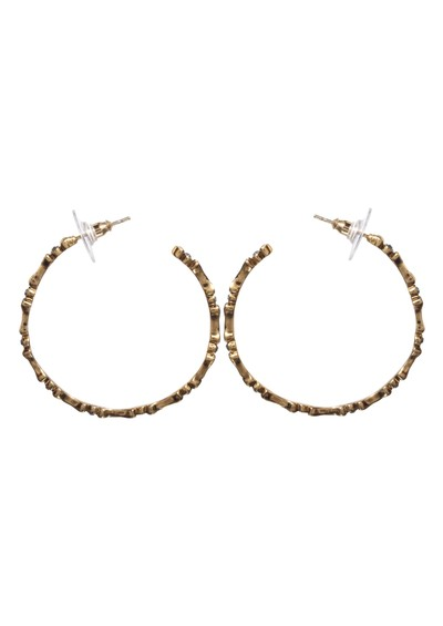 House Of Harlow Bone Hoop Earrings - Gold main image