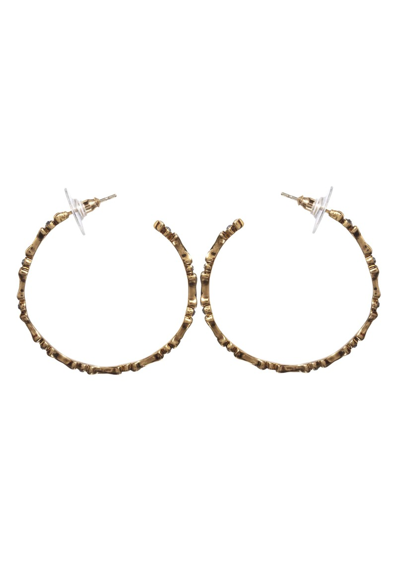 Bone Hoop Earrings - Gold main image