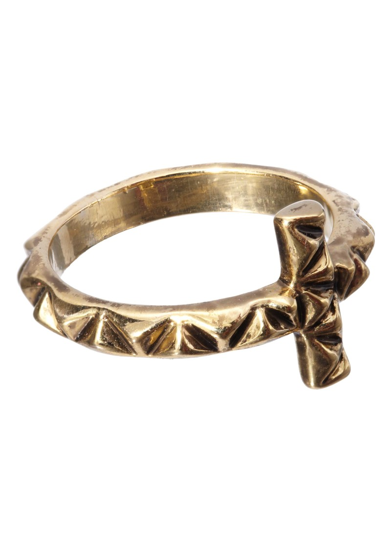 House Of Harlow Faceted Cross Ring - Gold main image