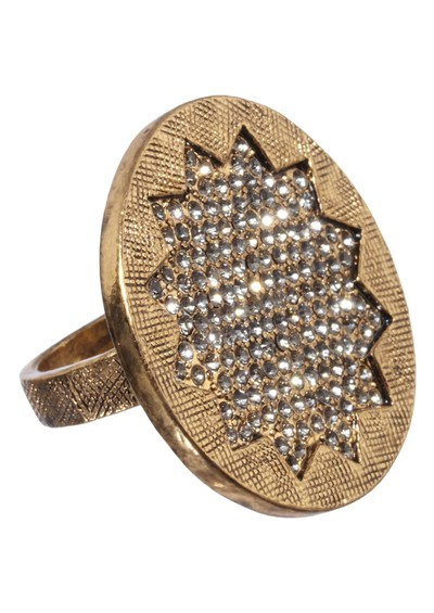 House Of Harlow Medium Sunburst Cocktail Ring - Gold main image