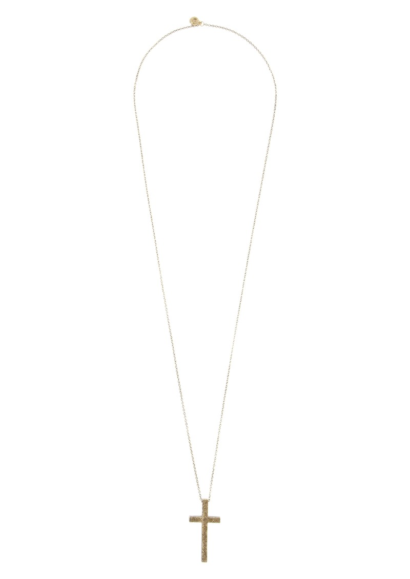 House Of Harlow Engraved Cross Pendant Necklace - Gold main image