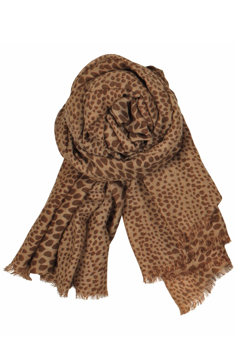 Doreen Wool and Silk Blend Scarf - Sesame main image