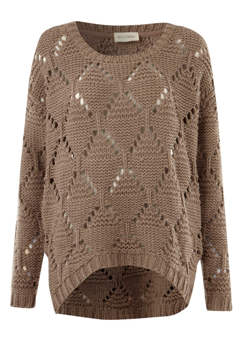 Big Sky Country Round Neck Knitted Jumper - Mouse main image