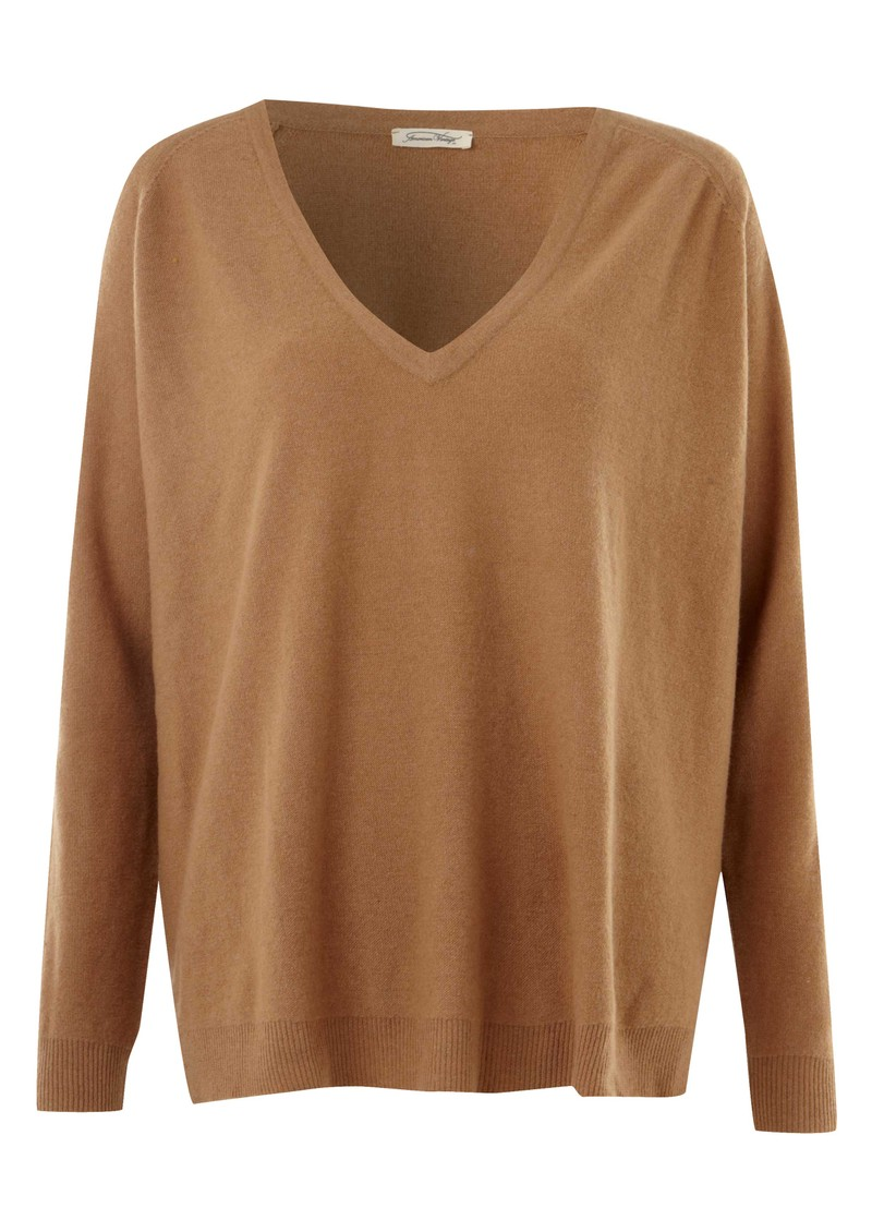 American Vintage Picayune Wool Long Sleeve V Neck Pullover - Savannah main image