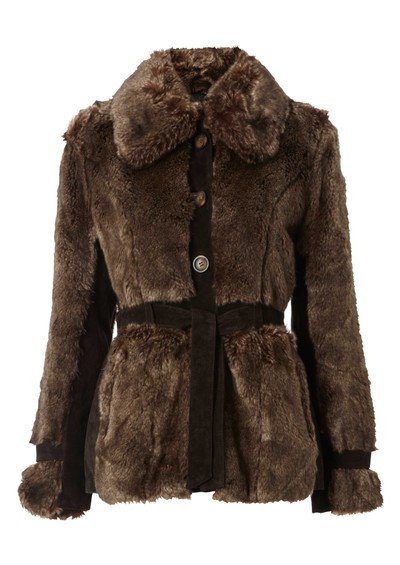 Jofama Maggie Fur Jacket - Coffee main image