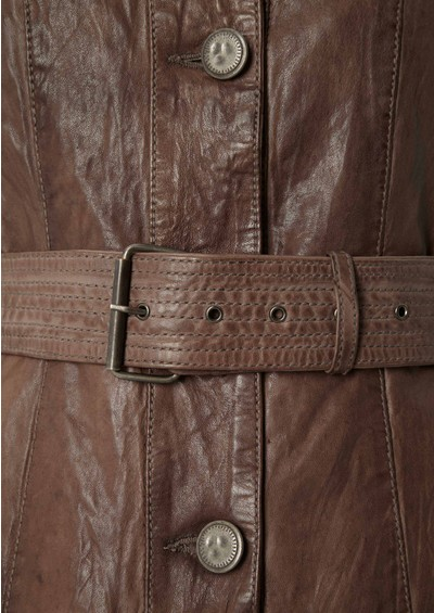 Jofama Jackie Leather Jacket - Cement main image