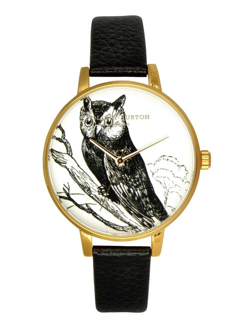 Owl Motif Watch - Black main image