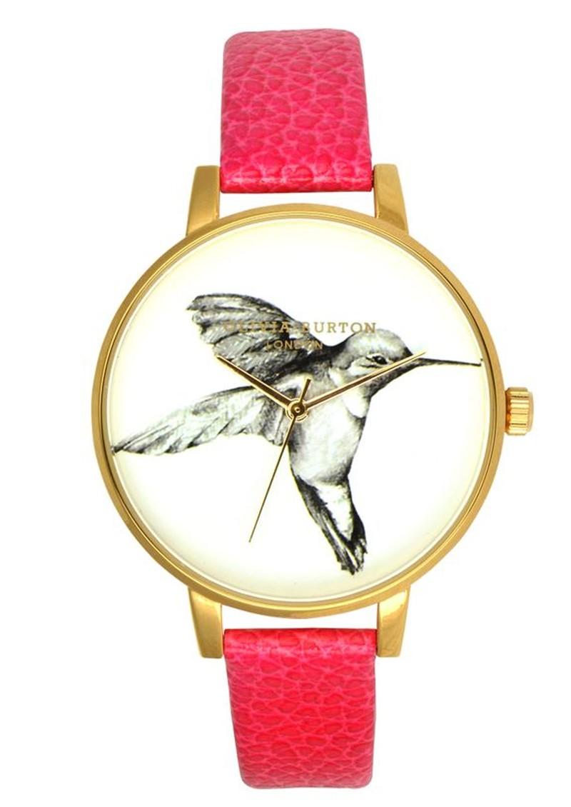 Olivia Burton Hummingbird Motif Watch - Pink main image