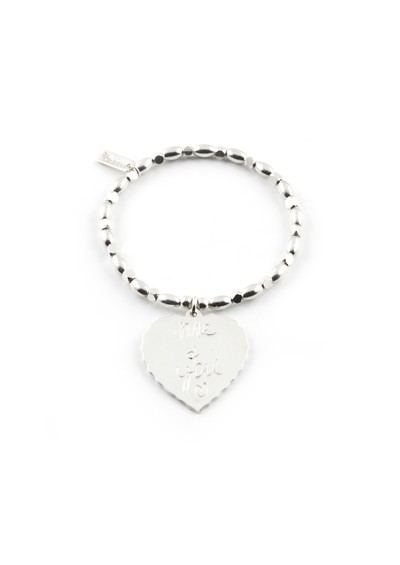 ChloBo Fancy Rice Me & You Charm Bracelet - Silver main image
