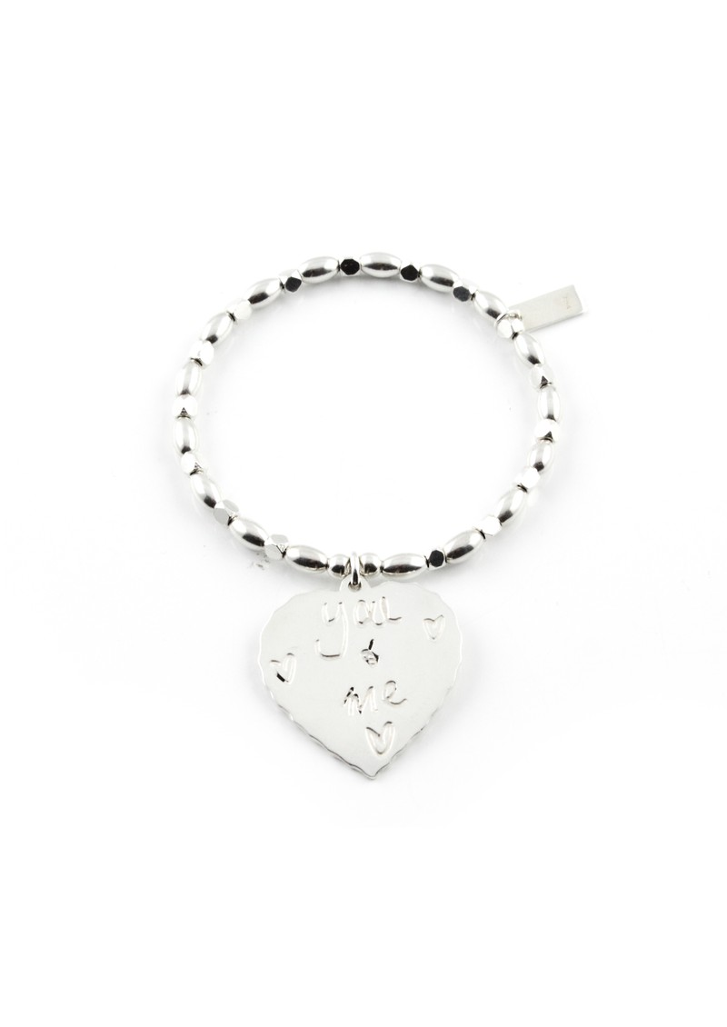 ChloBo Fancy Rice Me & You Charm Bracelet - Silver main image