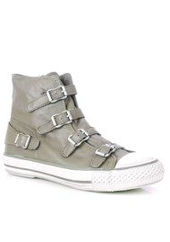 Ash Virgin Leather Buckle Trainers - Perkish