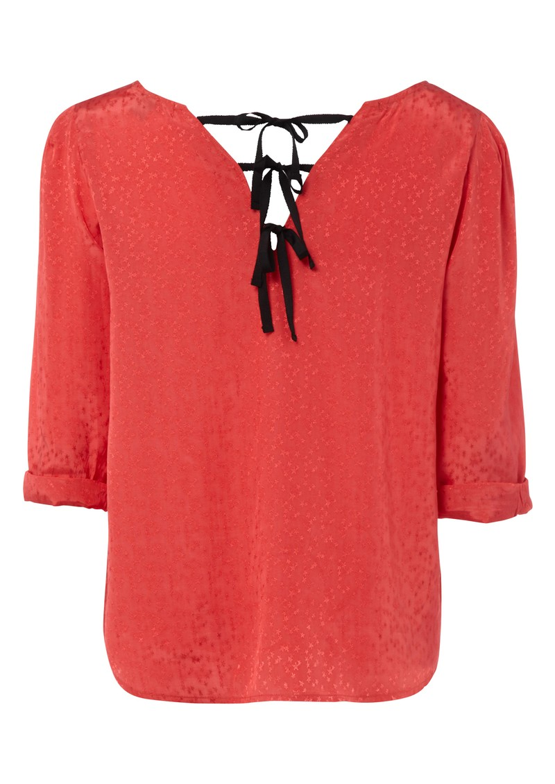 Maison Scotch Star Jacquard Top - Coral main image