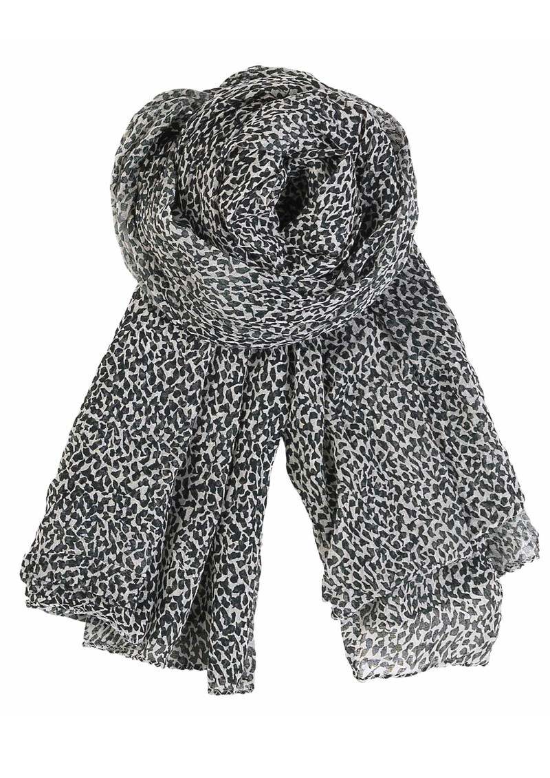 A-Winter Snow Scarf - Black main image