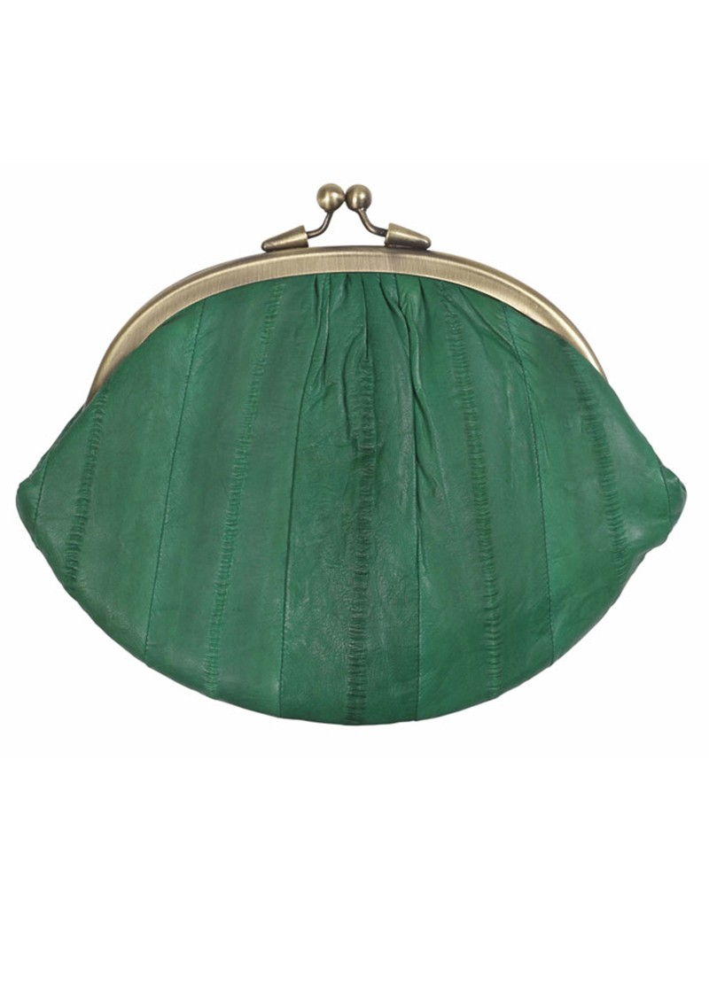 Eel Skin Granny Purse - Green main image