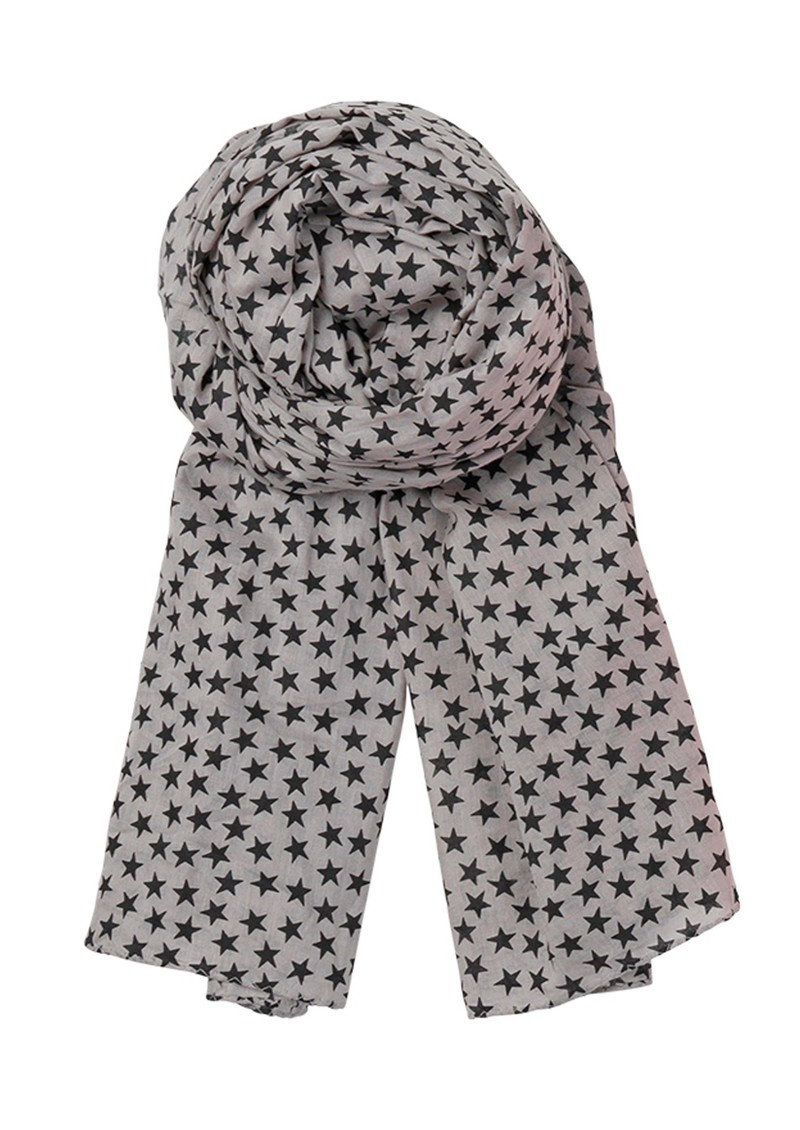 Becksondergaard C - Winter Stars Scarf - Light Grey main image