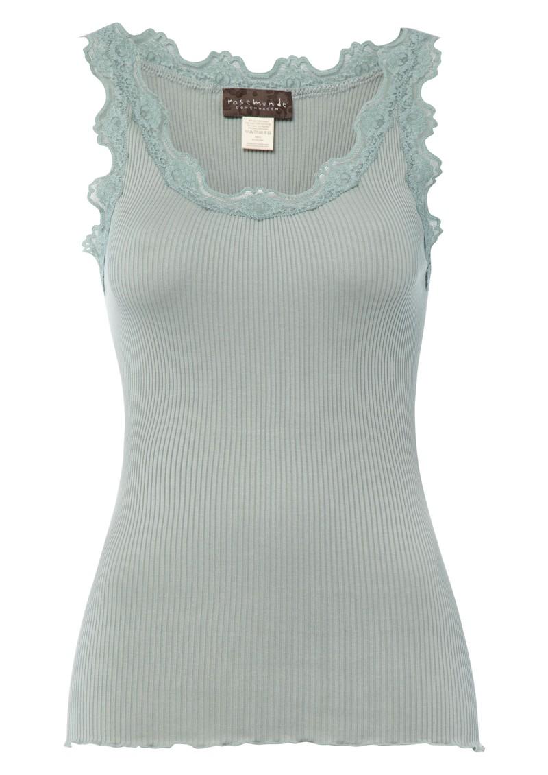 Rosemunde Silk Blend Lace Vest in Iceberg