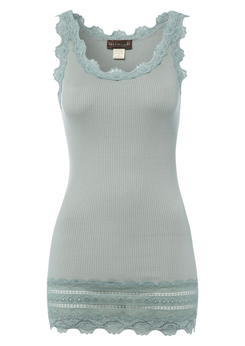 Wide Lace Silk Blend Vest - Iceberg main image
