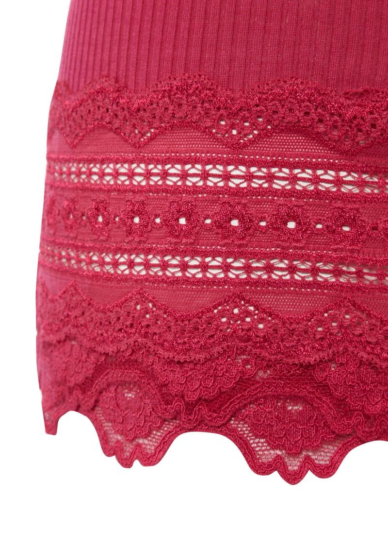Rosemunde Wide Lace Silk Blend Vest - Cherry main image
