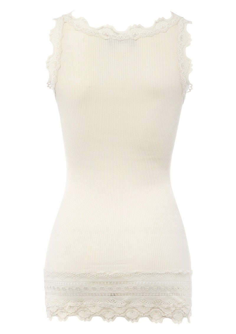 Wide Lace Silk Blend Vest - Marble main image