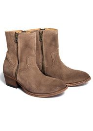 Riley Suede Boot - Beige