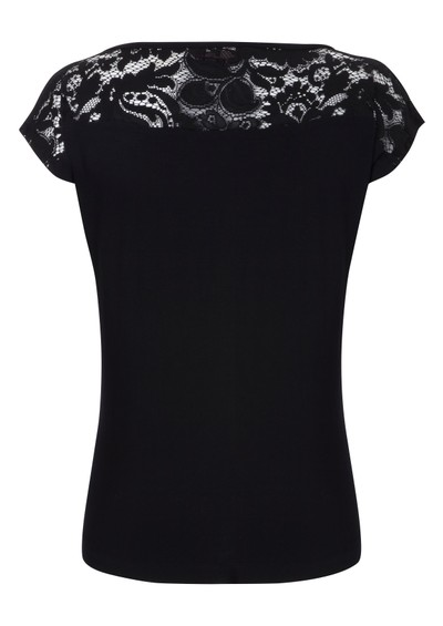 Great Plains Logan Lace Top - Black main image