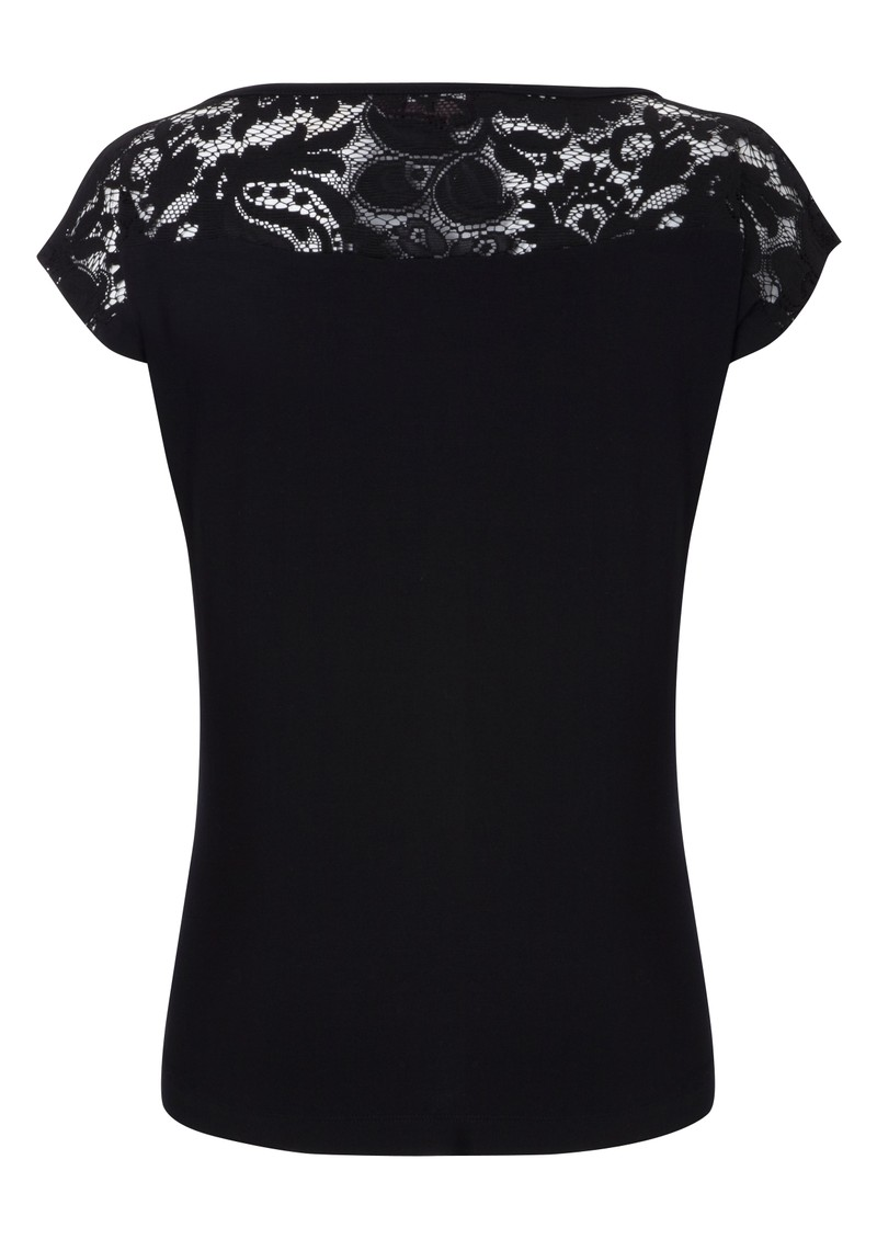 Logan Lace Top - Black main image